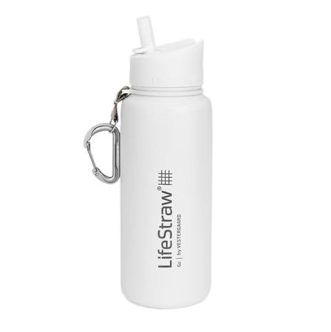 LifeStraw Go – Stainless Steel Bottle with Filter - White