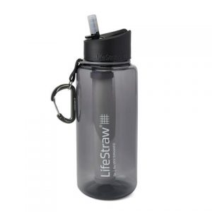 LifeStraw Go – 1L Water Bottle with Filter - Grey