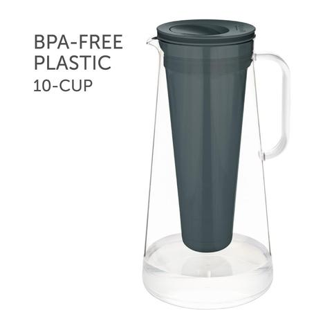 LifeStraw Home – Water Filter Pitcher, 10-Cup, BPA-Free - Grey